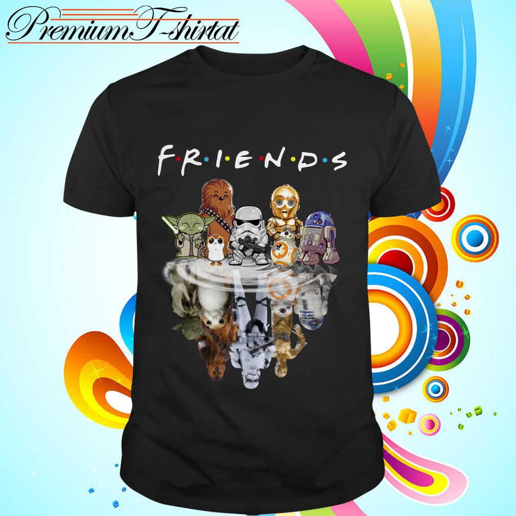 Star Wars chibi characters water reflection Friends TV show shirt