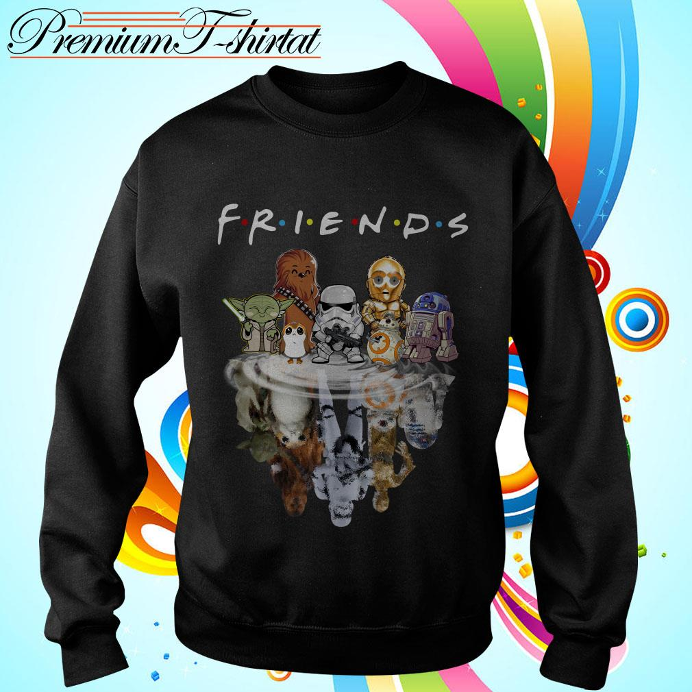 Star Wars chibi characters water reflection Friends TV show Sweater