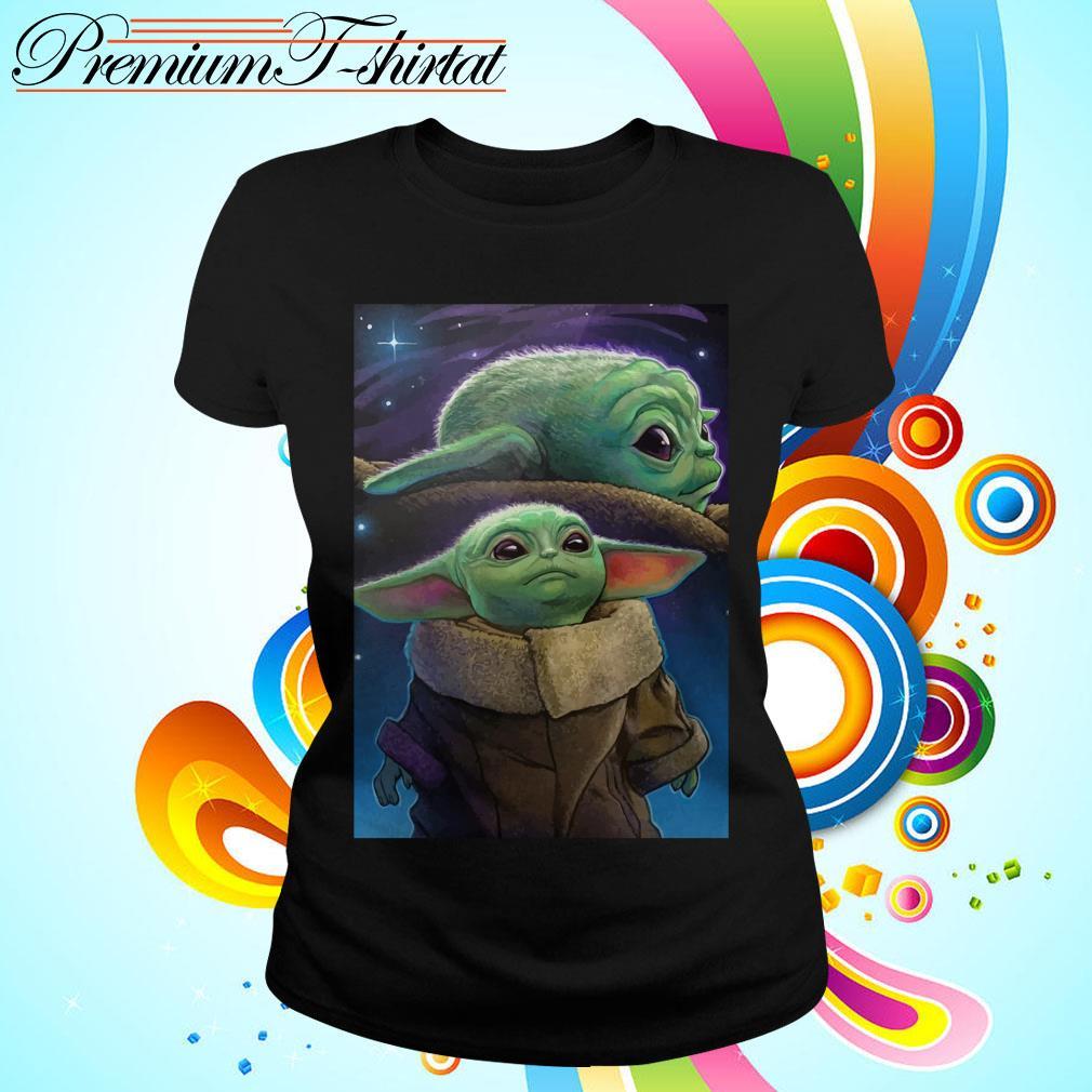 The Mandalorian Baby Yoda poster Ladies tee