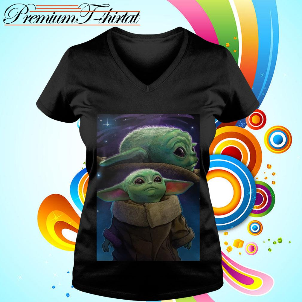The Mandalorian Baby Yoda poster V-neck t-shirt