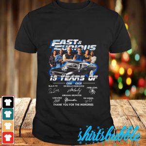 Fast and Furious 19 years of 2001 2020 signature thank you for the memories shirt