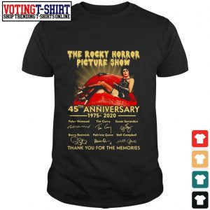 The Rocky horror picture show 45th anniversary 1975 2020 signature shirt