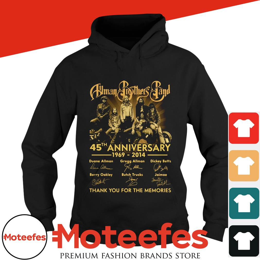 Allman Brothers Band 45th anniversary 1969 2014 thank you for the memories shirt