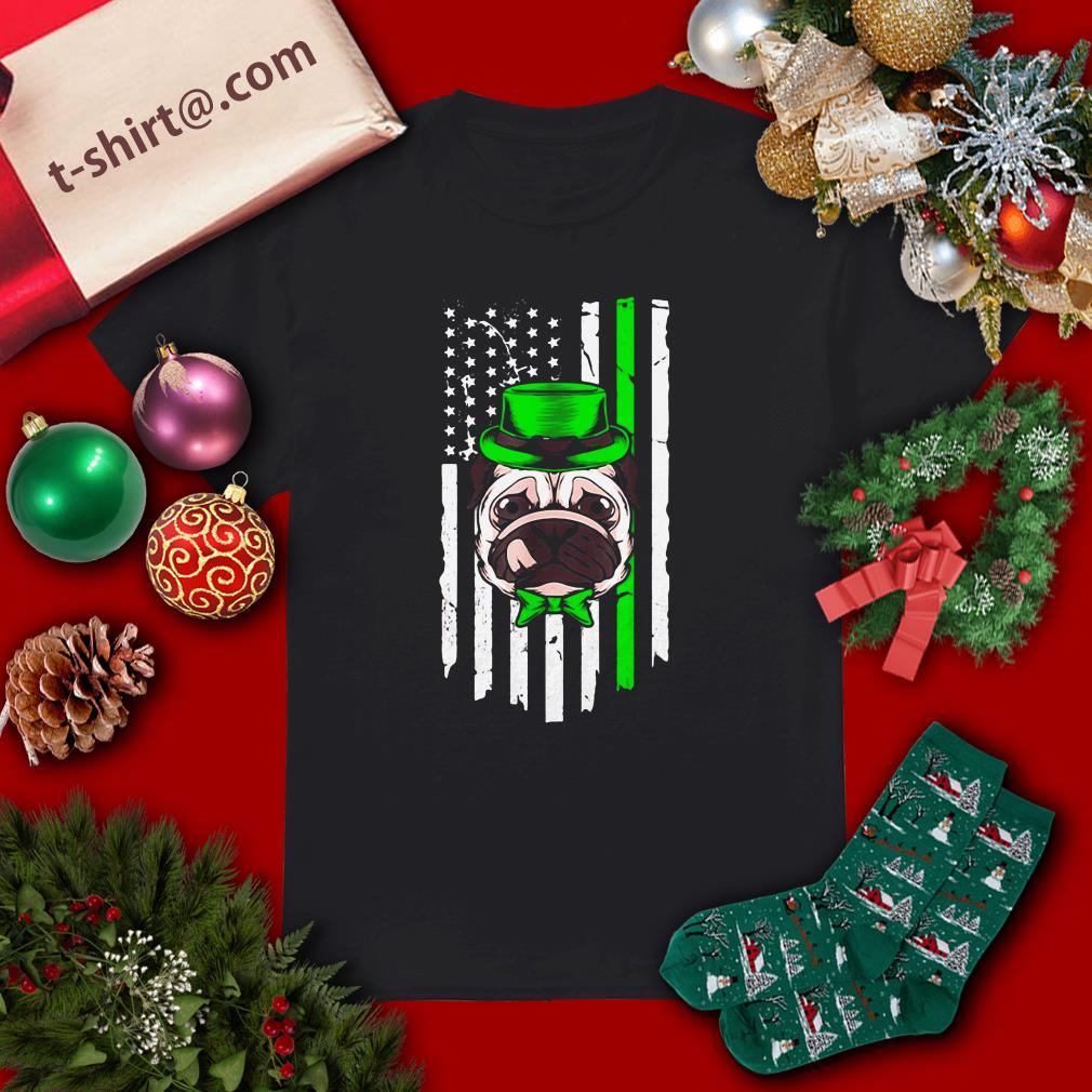 Clickbuypro Unisex Tshirt Bulldog American Irish St Patricks Day Shirt T-shirt Red 4xl