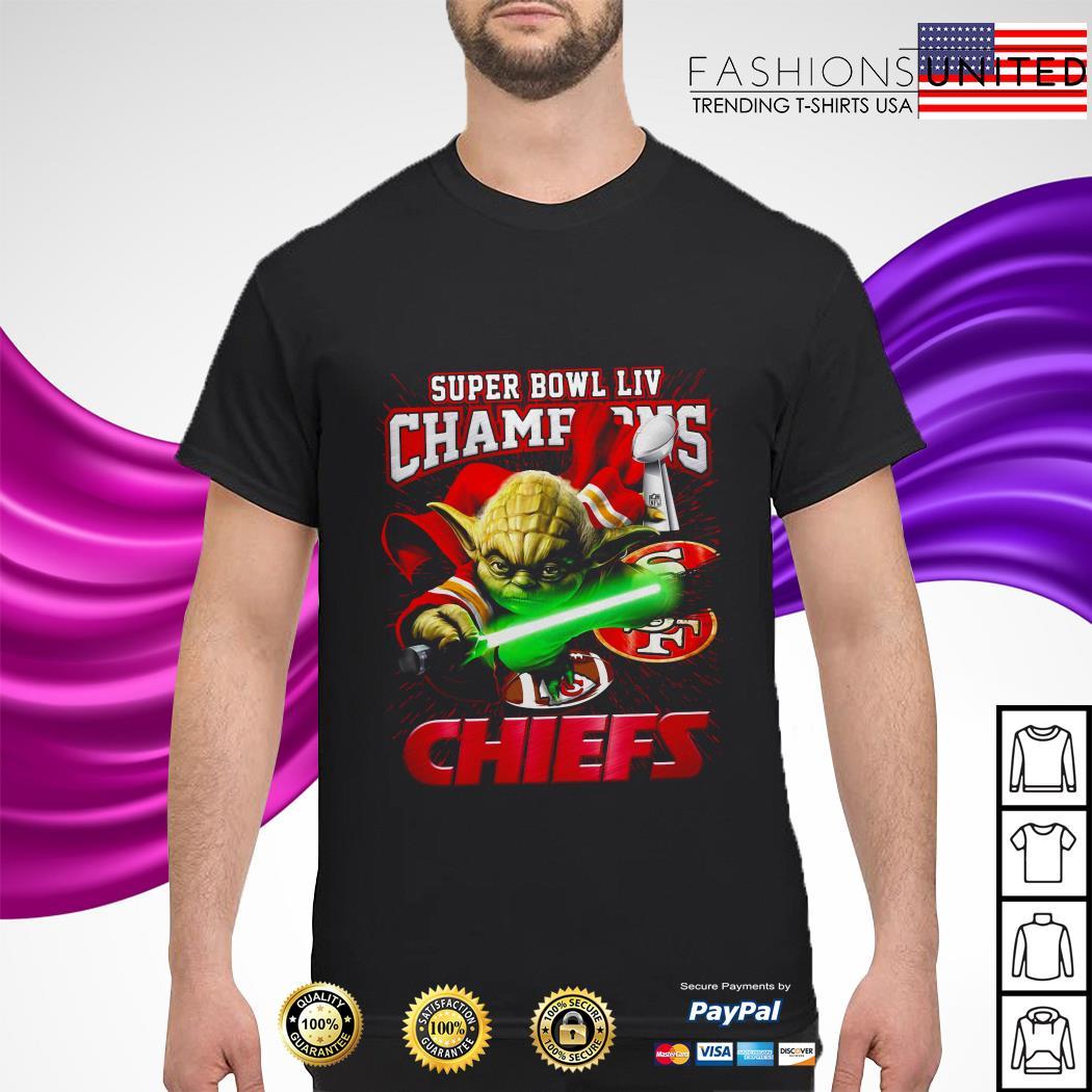 Yoda Super Bowl LIV Champions Kansas City Chiefs shirt