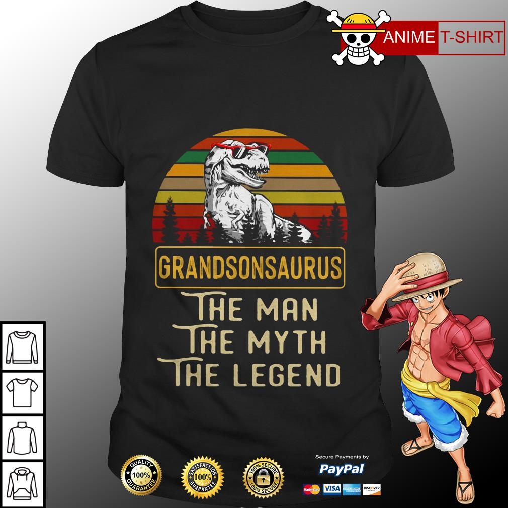 Grandson Saurus The Man The Myth The Legend Vintage Shirt