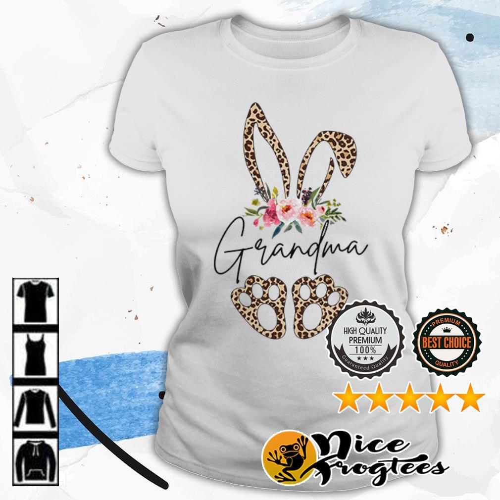 Rabbit leopard grandma flower shirt