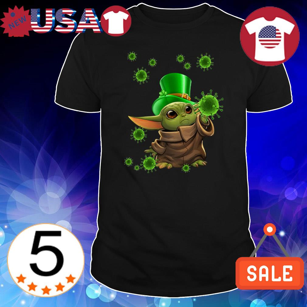 St. Patrick's day Covid 19 Baby Yoda Coronavirus shirt