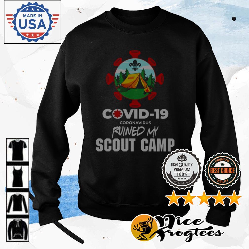 COVID-19 coronavirus ruined my scout camp shirt