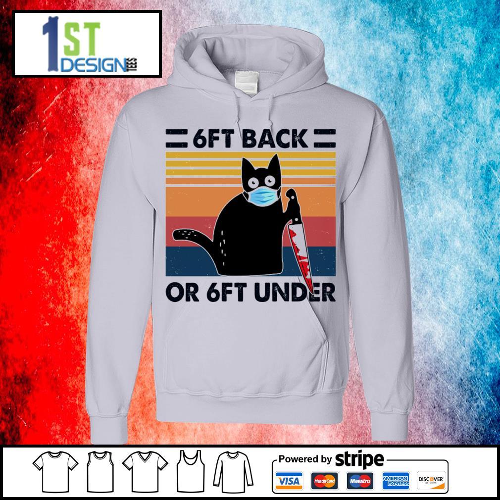 Black cat face mask 6ft back or 6ft under vintage s hoodie