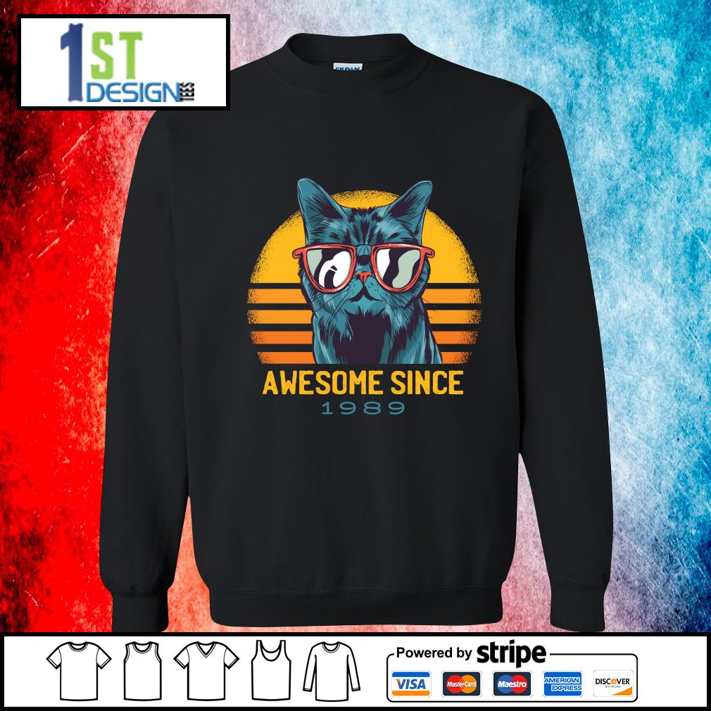 Cat awesome since 1989 vintage s sweater