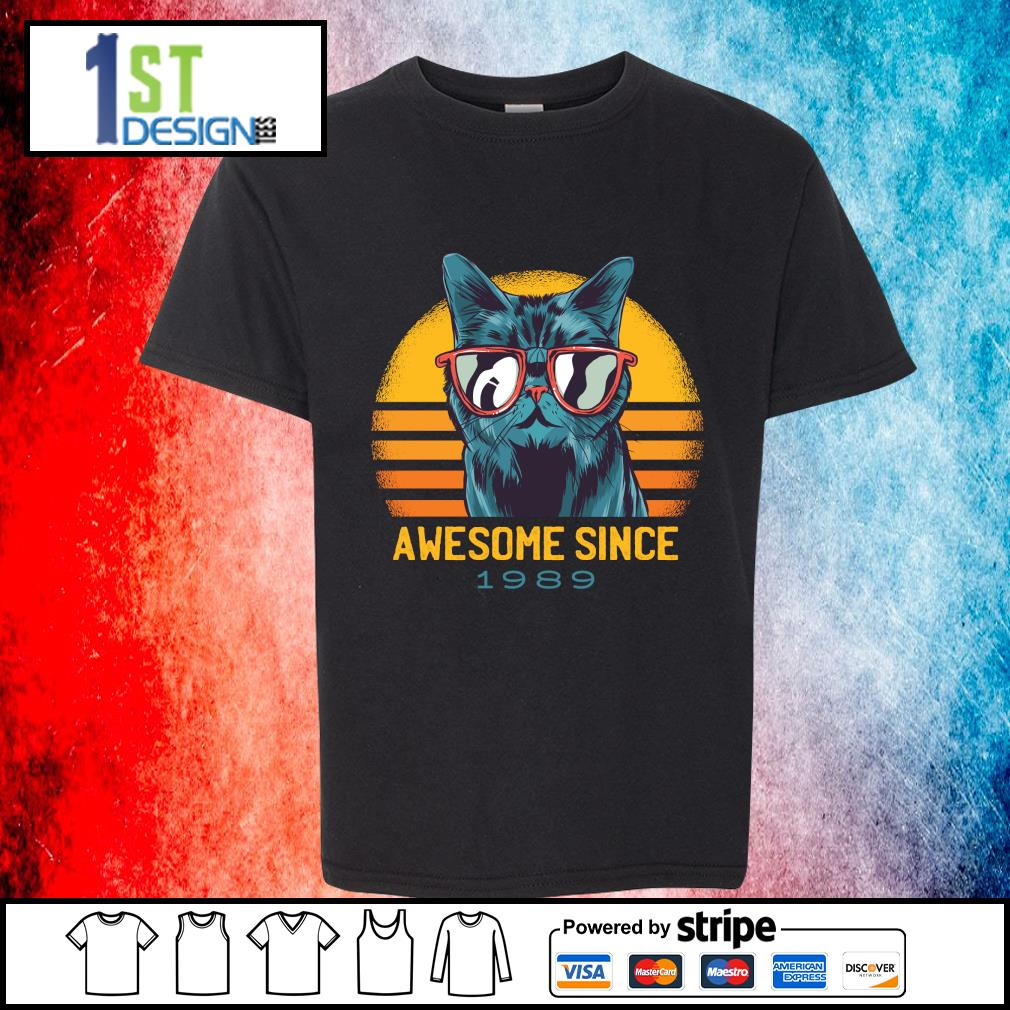 Cat awesome since 1989 vintage s youth-tee