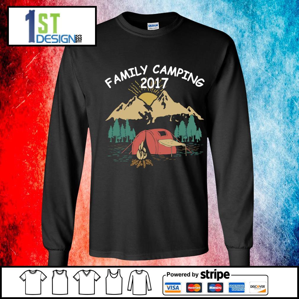 Family camping 2017 s longsleeve-tee