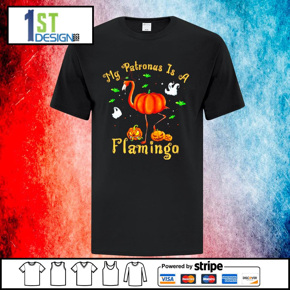 Halloween pumpkin my Patronus is a flamingo shirt