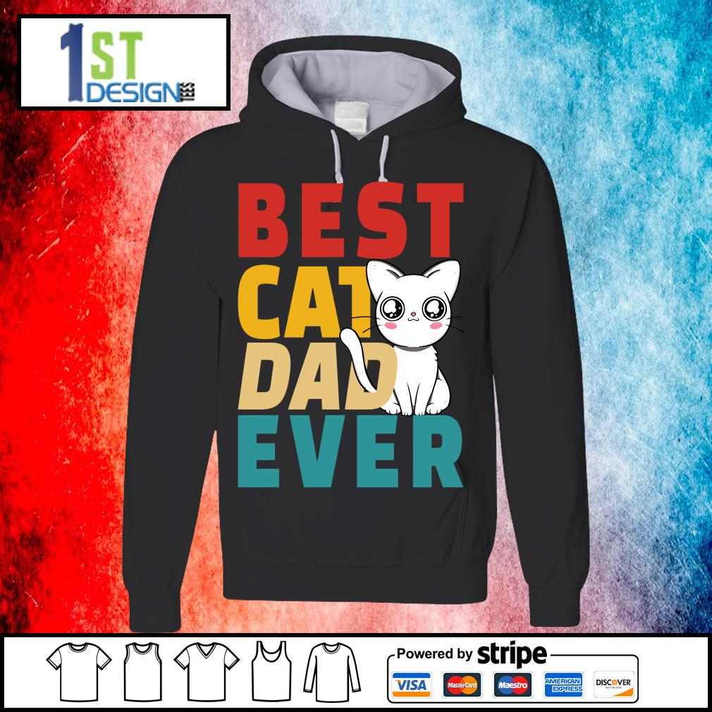 Official Best cat dad ever s hoodie
