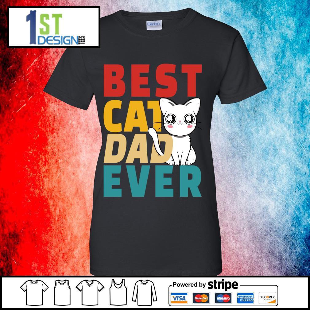 Official Best cat dad ever s ladies-tee