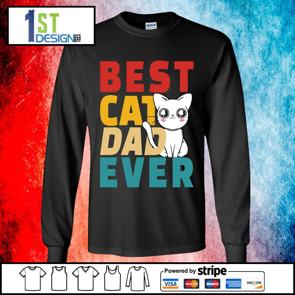 Official Best cat dad ever s longsleeve-tee