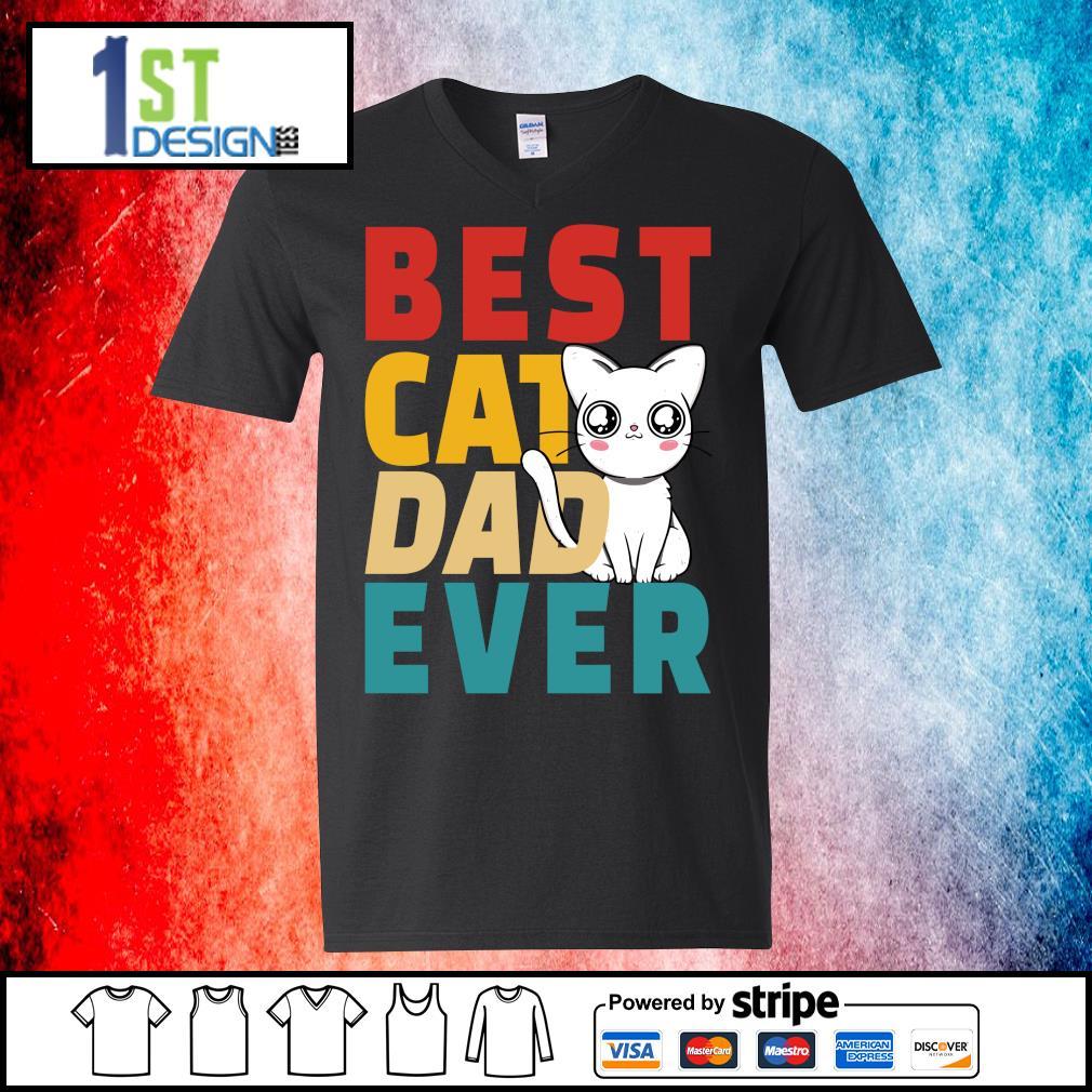 Official Best cat dad ever s v-neck-t-shirt