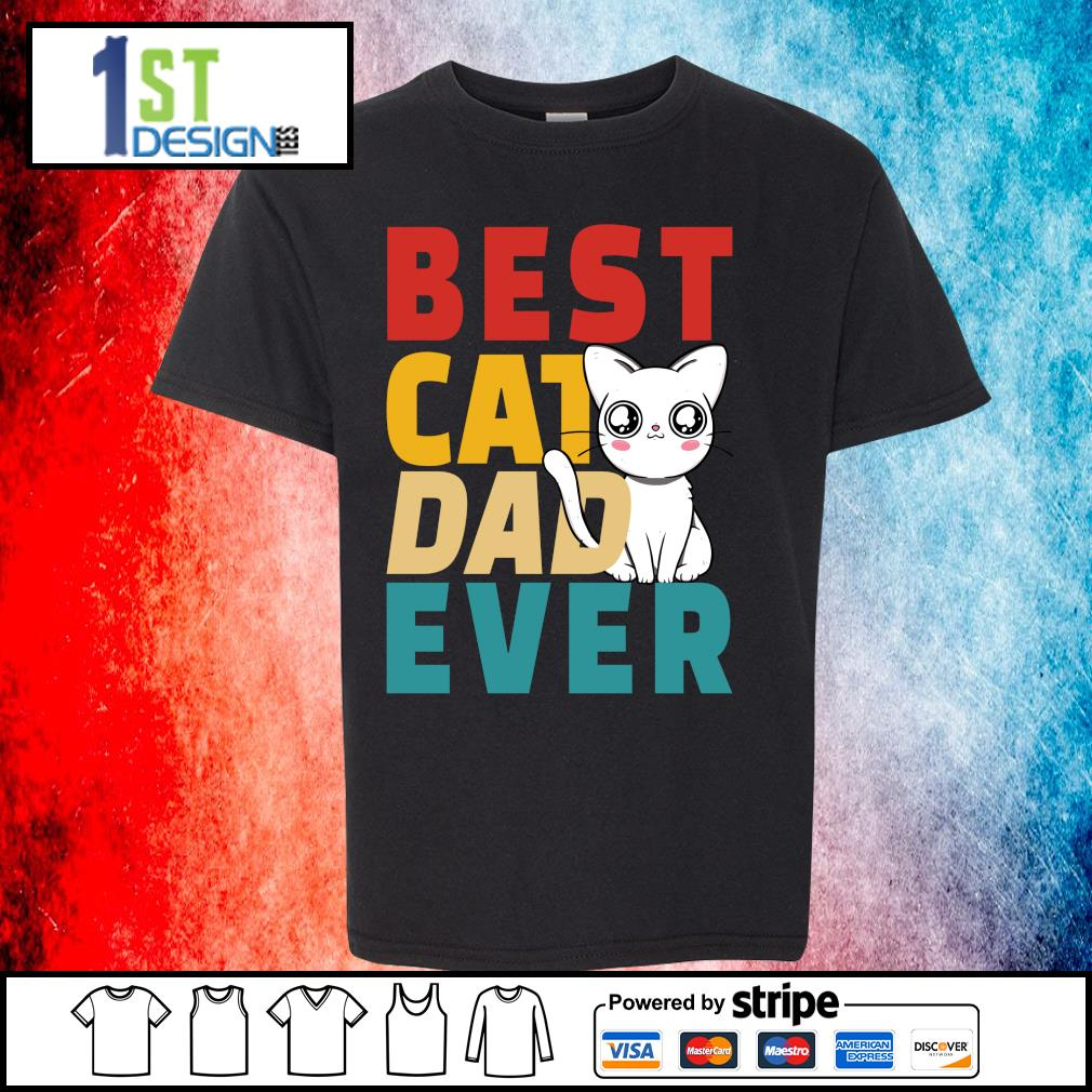 Official Best cat dad ever s youth-tee